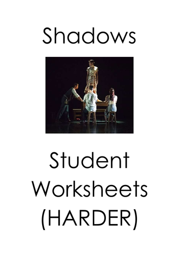 GCSE Dance Shadows - Revision Guide and Teacher and Student lesson booklets