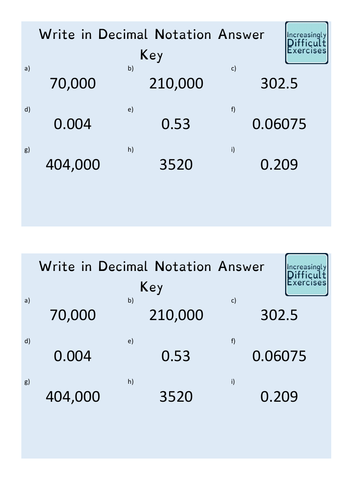 Increasingly Difficult Questions - Convert Between Standard Form and Decimal Notation