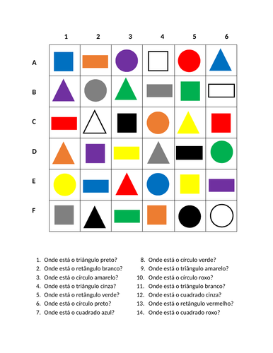 Cores e Formas Portuguese Find it Distance Learning