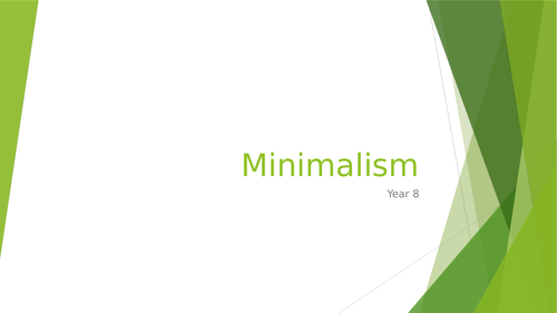 Minimalism SOW for year 8