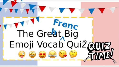 The great big French emoji vocab quiz!