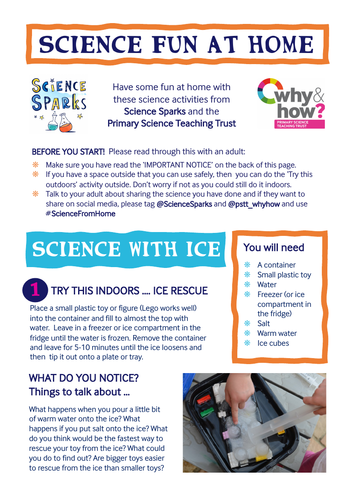 Science Fun at Home - Ice