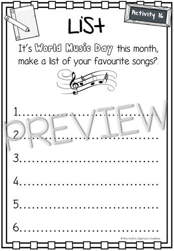 June writing journal (booklet)