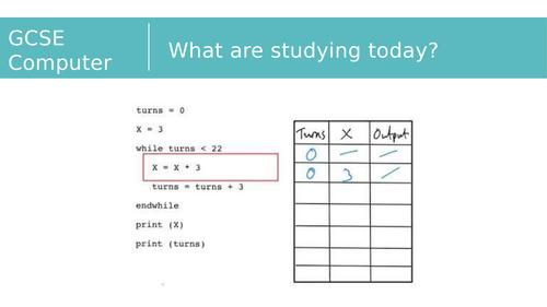 2.1.4 Trace Tables - OCR Computer Science GCSE (J277)