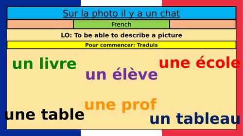 Photo description GCSE KS3 French