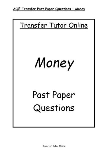 GL AQE 11+ Transfer Test Money Revision Pack