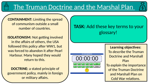 The Truman Doctrine and Marshall Plan