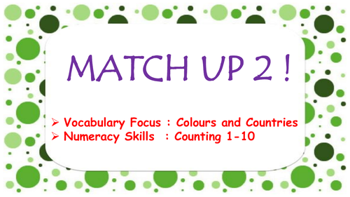 Match Up 2 - ideal for face to face ,  homelearning and remote learning