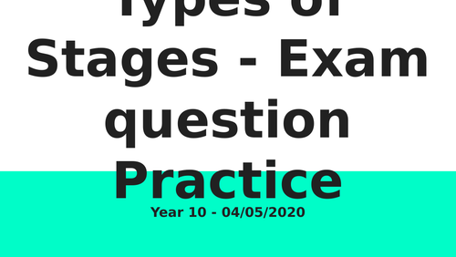 Two Faces - Types of Stage Exam Practice