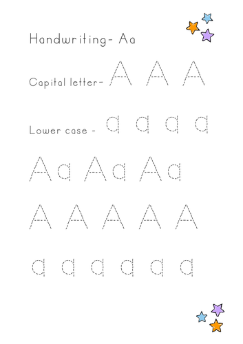EYFS/Year 1 Handwriting - Capital and lower case letters