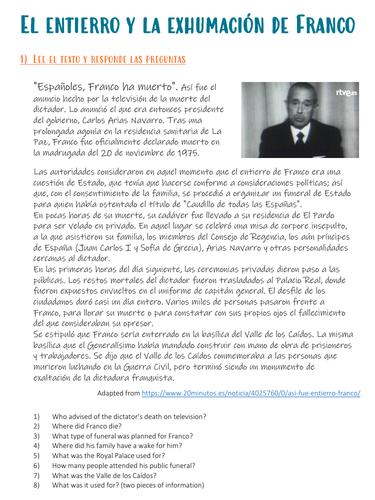 Franco: el entierro y la exhumación