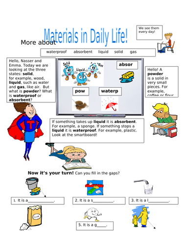 More about Materials in Daily Life