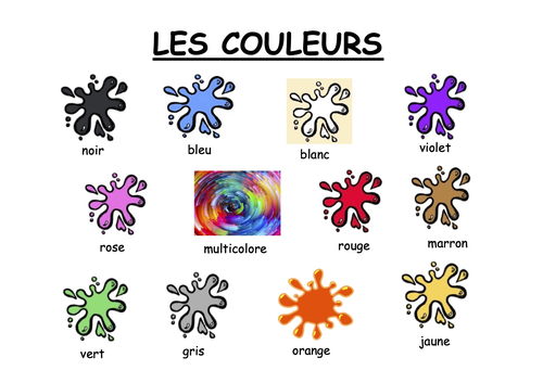 Les Couleurs poster - French colours poster