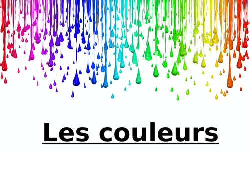 Les Couleurs - French colours lesson and activity sheets