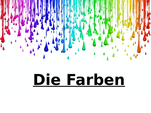 Die Farben - Colours in German - lesson and activity sheets