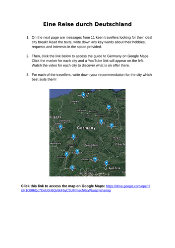 A Trip Around Germany Online Lesson