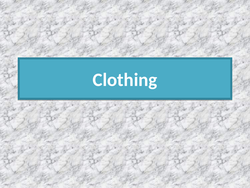 Clothing in English
