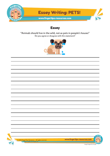 Should we keep pets? Essay Writing Activity