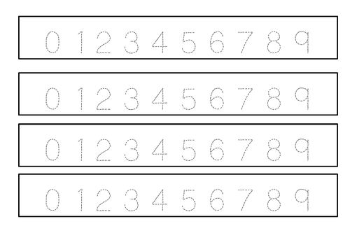 Number formation- handwriting