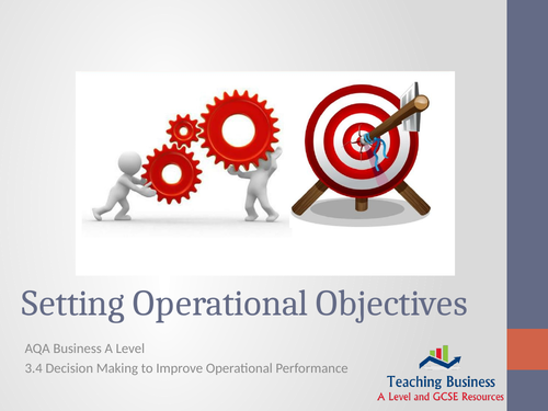AQA Business - Setting Operational Objectives