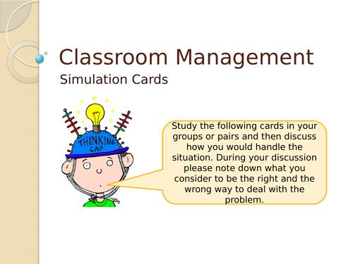 Classroom Management - Role Simulation Cards
