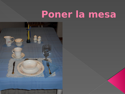 Poner la mesa (Set the Table in Spanish) PowerPoint