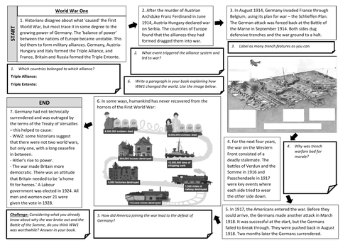 WW1 Overview Worksheet