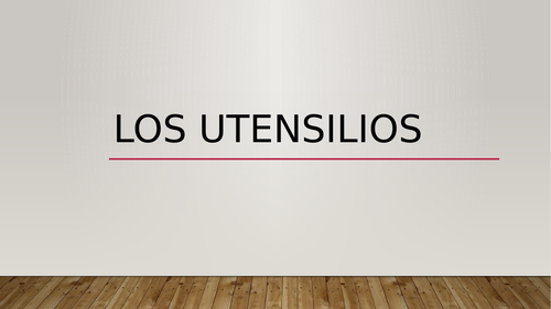 Utensilios (Utensils in Spanish) PowerPoint Distance Learning