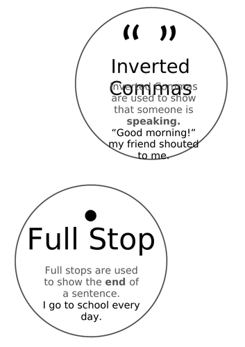 Literacy - Punctuation Cards