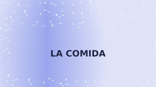 Comida (Food in Spanish) PowerPoint Distance Learning