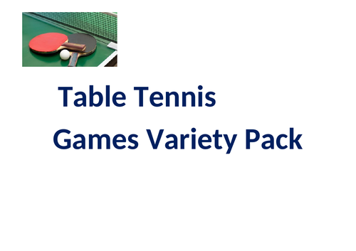 Table Tennis Games Variety Pack