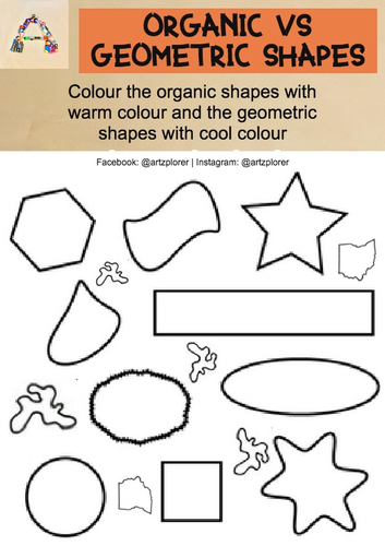 Printable | Shapes Theory worksheet