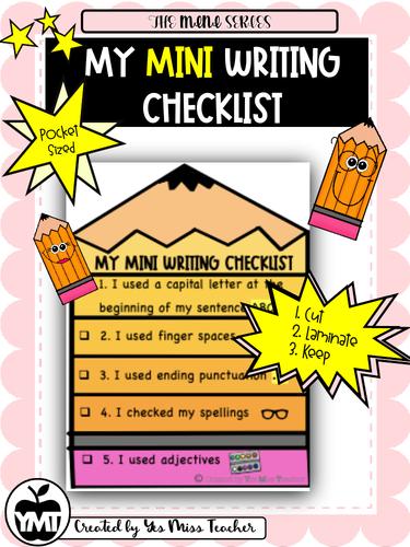 My MINI Writing Checklist - MINI Series