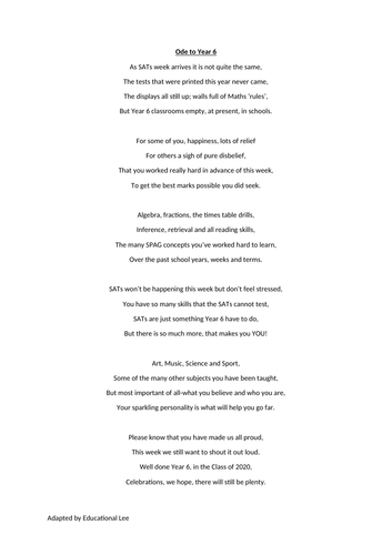 Coronavirus Ode To Year 6 Poem Teaching Resources See more ideas about poems, words poems for the autumn. coronavirus ode to year 6 poem