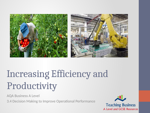 AQA Business - Increasing Efficiency & Productivity