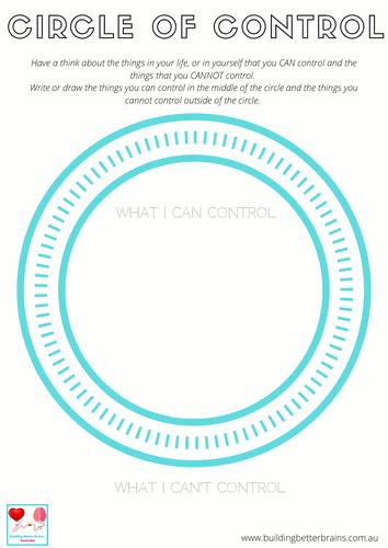 Circle of Control Worksheet