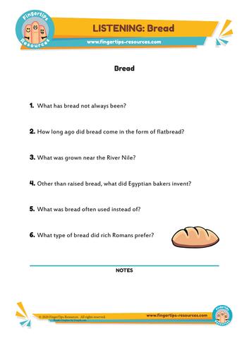 Bread - ESL Listening Activity