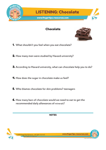 Chocolate - ESL Listening Activity
