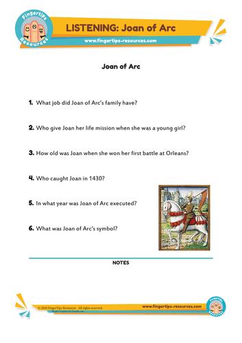Joan of Arc - ESL Listening Activity