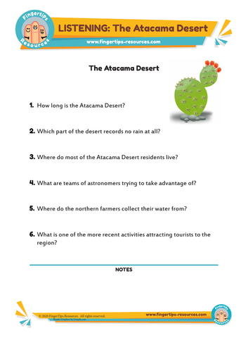 The Atacama Desert - ESL Listening Activity