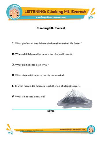 Climbing Everest - ESL Listening Activity