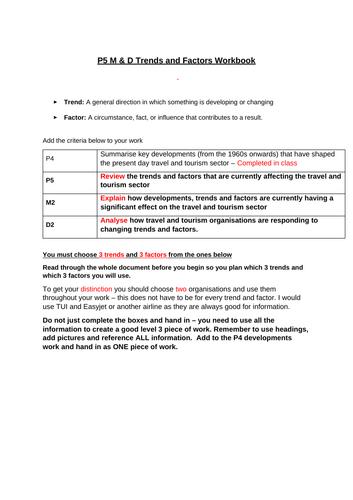 Trends & Factors workbook