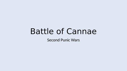 Romans-Second Punic War- Battle of Cannae