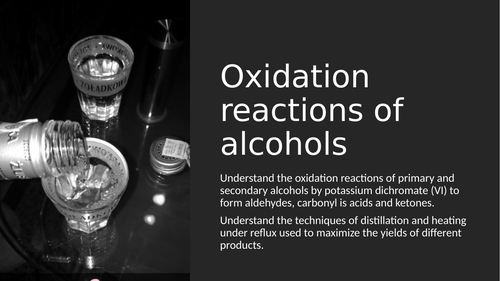 Oxidation reactions of alcohols powerpoint/questions
