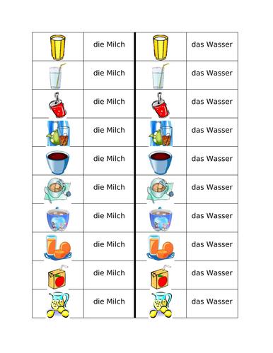 Getränke (Drinks in German) Dominoes