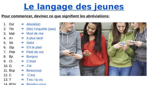 Le langage SMS (Langue et Identité, la cybersociété)