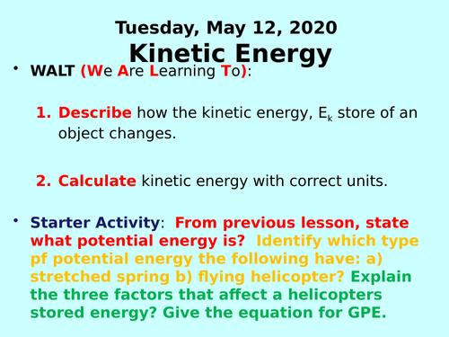 Kinetic Energy PPT- GCSE Physics