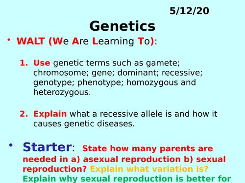 Genetics PPT - GCSE Biology
