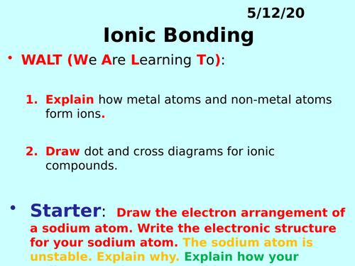 Ionic Bonding PPT - GCSE Chemistry