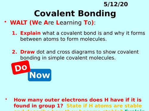 Covalent Bonding PPT - GCSE Chemistry